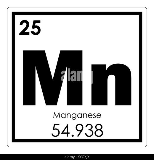 Manganese element imgenes de stock manganese element fotos de tabla peridica de elementos qumicos de manganeso smbolo de ciencia imagen de stock urtaz Images