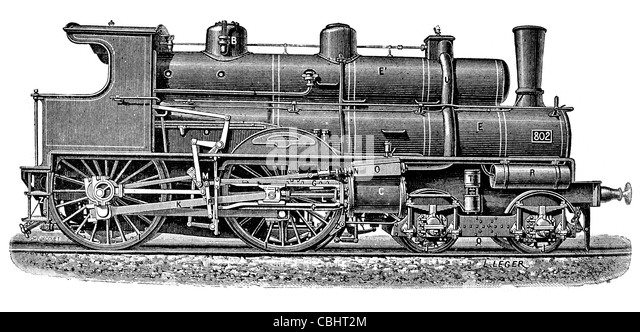 drawing of steam locomotive photos drawing of steam locomotive images alamy. Black Bedroom Furniture Sets. Home Design Ideas
